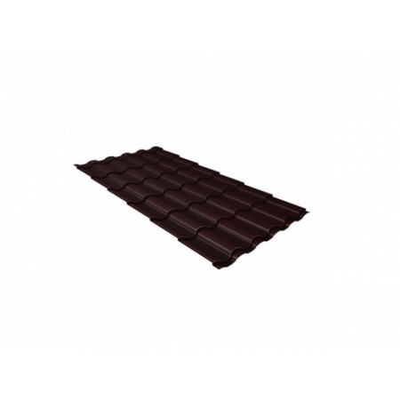 Металлочерепица Камея 0,45 Drap RAL 8017 Шоколад - фото