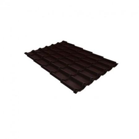 Металлочерепица Классик 0,5 PurLite Matt RAL 8017 Шоколад - фото #1