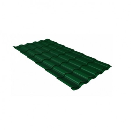 Металлочерепица Кредо 0,45 Drap RAL 6005 Зеленый мох - фото