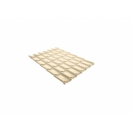 Металлочерепица Классик 0,5 Satin RAL 1015 Светлая слоновая кость - фото