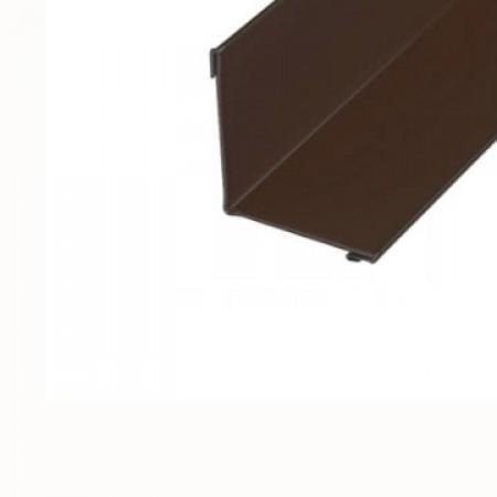 Планка угла внутреннего 115х115х2000 МеталлПрофиль CLOUDY - фото #1