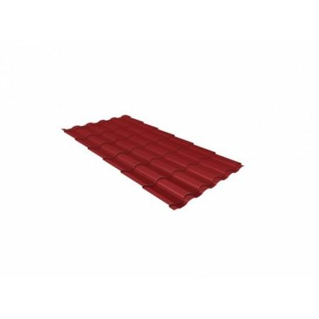 Металлочерепица Кредо 0,5 Satin RAL 3011 Коричнево-красный - фото #1