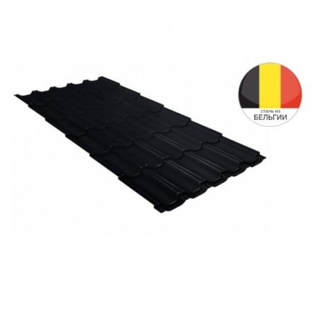 Металлочерепица Квинта плюс 0,5 Velur20 RAL 9005 Черный - фото #1