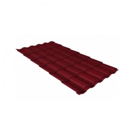 Металлочерепица Кредо 0,45 Drap RAL 3005 Красное вино - фото