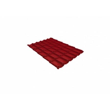 Металлочерепица Классик 0,5 Satin RAL 3003 Рубиново-красный - фото