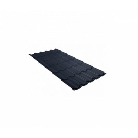 Металлочерепица Квинта плюс 0,5 Satin RAL 7024 Мокрый асфальт - фото