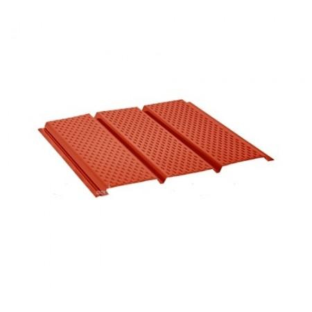 Софит стальной с полной перфорацией Pural Красный RR29 - фото #1