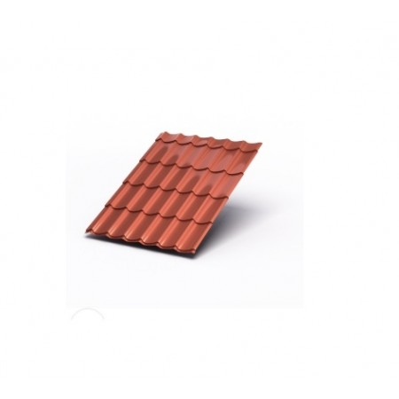 Металлочерепица МП Ламонтерра AGNETA 0,5 Copper Агнета - фото