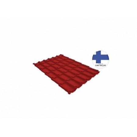 Металлочерепица Классик 0,5 GreenCoat Pural RR 29 Красный RAL 3009 Оксидно-красный - фото #1