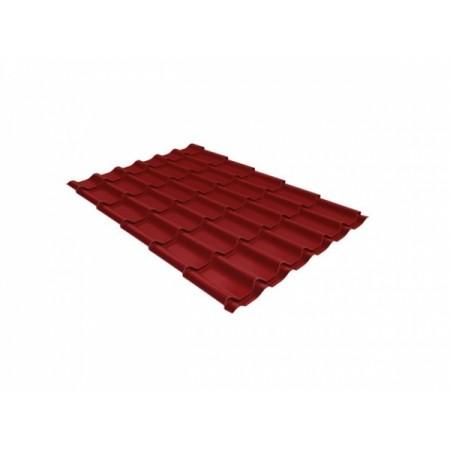 Металлочерепица Монтеррей 0,45 Polyester RAL 3011 Коричнево-красный - фото