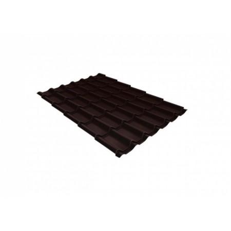 Металлочерепица Монтеррей 0,4 Polyester RAL 8017 Шоколад - фото