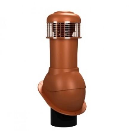 К-66 Вентиляционный выход НЕИЗОЛИРОВАННЫЙ (неутепленный) с электрическим вентилятором 305 куб.м. час D 150 мм H 500 мм - фото #1
