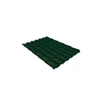 Металлочерепица Классик 0,5 Satin RAL 6005 Зеленый мох - фото #1