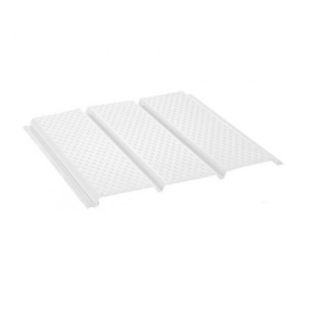 Софит алюминиевый с полной перфорацией Polyester Белый RR20 - фото