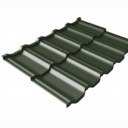 Металлочерепица Kvinta Uno 0,5 GreenCoat Pural RR 11 Темно-зеленый RAL 6020 Хромовая зелень - фото #1
