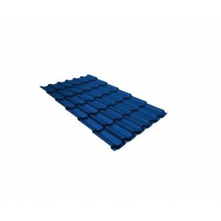 Металлочерепица Квинта плюс 0,45 Polyester RAL 5005 Сигнальный синий - фото