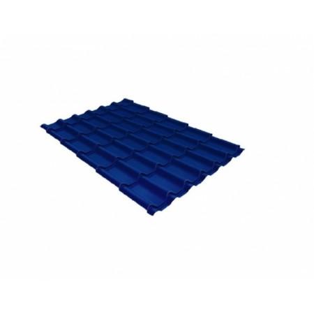 Металлочерепица Монтеррей 0,45 Polyester RAL 5005 Сигнальный синий - фото