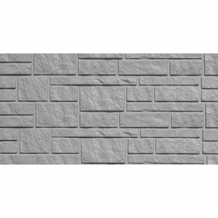 Фасадная (цокольная) панель Tecos Натуральный камень Серая - фото