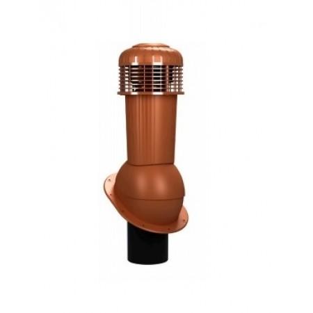 К-90 Вентиляционный выход НЕИЗОЛИРОВАННЫЙ (неутепленный) с электрическим вентилятором 305 куб.м./час D 125 мм Н 500 мм - фото #1