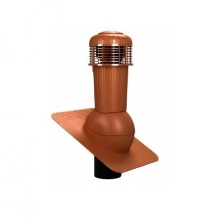 К-87 Вентиляционный выход НЕИЗОЛИРОВАННЫЙ (неутепленный) с электрическим вентилятором 305 куб.м./час D 125 мм Н 500 мм - фото #1
