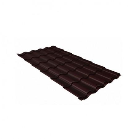 Металлочерепица Кредо 0,45 Drap RAL 8017 Шоколад - фото