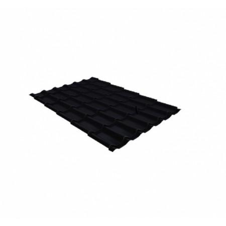 Металлочерепица Классик 0,5 Стальной бархат RAL 9005 Черный - фото #1