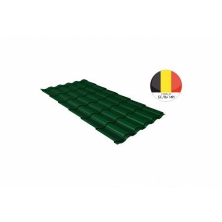 Металлочерепица Камея 0,5 Quarzit lite RAL 6005 Зеленый мох - фото #1