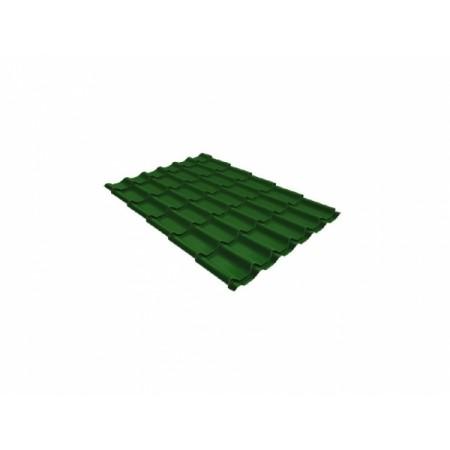 Металлочерепица Классик 0,5 Satin RAL 6002 лиственно-зеленый - фото