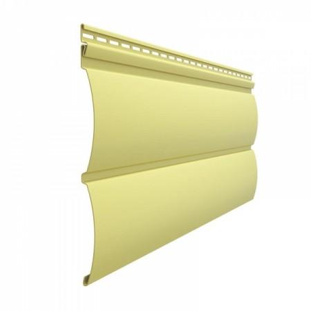 Сайдинг Docke Premium D4,7Т (Блок-хаус) Лимон - фото