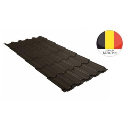 Металлочерепица Квинта плюс 0,5 Velur20 RR 32 Темно-коричневый - фото #1
