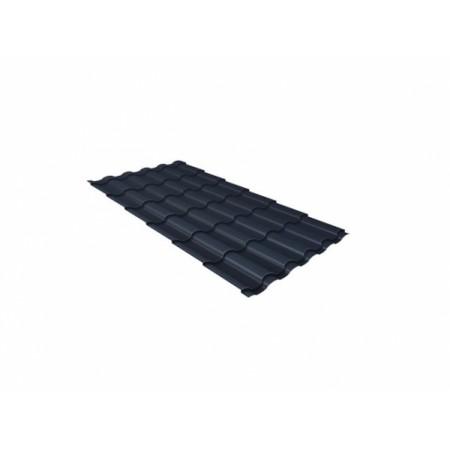 Металлочерепица Кредо 0,45 Polyester RAL 7024 Мокрый асфальт - фото