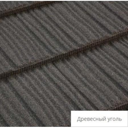 Лист композитной черепицы Tilcor Shake Древесный уголь - фото #1