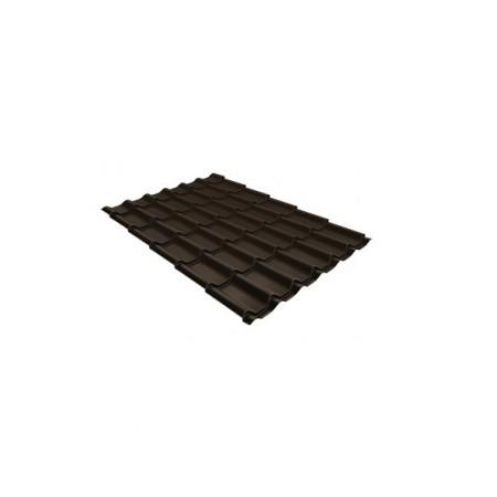 Металлочерепица Классик 0,5 Satin RR 32 Темно-коричневый - фото