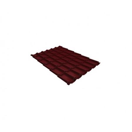 Металлочерепица Классик 0,45 Drap RAL 3005 Красное вино - фото