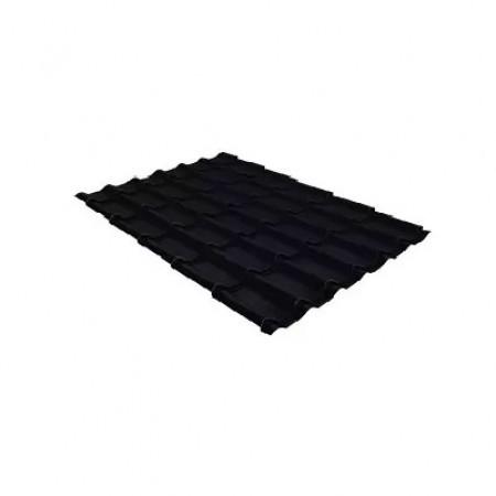 Металлочерепица Классик 0,5 PurLite Matt RAL 9005 Черный - фото #1