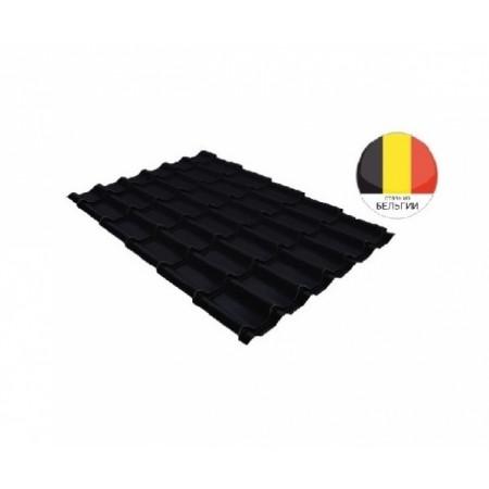 Металлочерепица Классик 0,5 Velur20 RAL 9005 Черный - фото #1