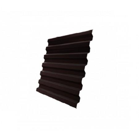 Профнастил С21R GreenCoat Pural Matt RR 887 Шоколадно-коричневый RAL 8017 Шоколад - фото #1