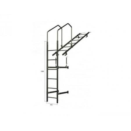 Лестница кровельная стеновая без кронштейнов 1860 мм 8017 - фото