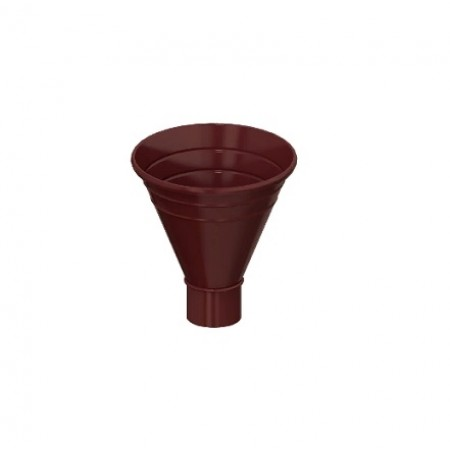 Воронка водосборная Металл Профиль D100х300 0,5 мм ПЛД - фото