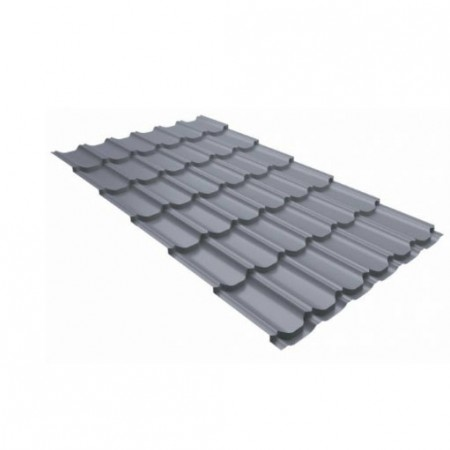 Металлочерепица Камея 0,45 Polyester RAL 7004 Сигнальный серый - фото #1