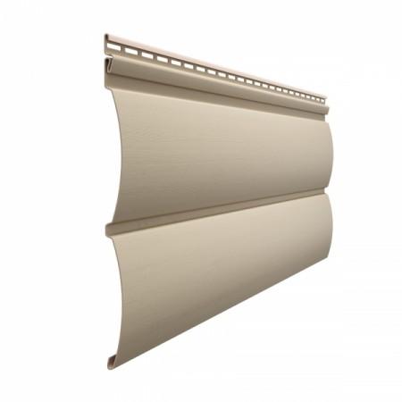 Сайдинг Docke Premium D4,7Т (Блок-хаус) Крем-брюле - фото