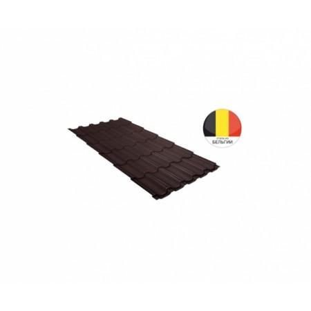 Металлочерепица Квинта плюс 0,5 Quarzit lite RAL 8017 Шоколад - фото #1
