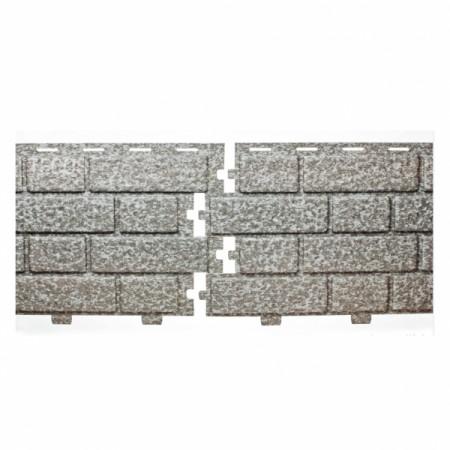 Фасадная (цокольная) панель Tecos BRICKWORK Silver Melange - фото