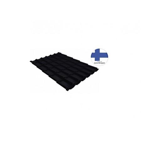 Металлочерепица Классик 0,5 GreenCoat Pural Matt RR 33 Черный RAL 9005 Черный - фото #1
