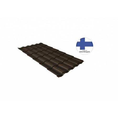 Металлочерепица Кредо 0,5 GreenСoat Pural Matt RR 32 Темно-коричневый RAL 8019 серо-коричневый - фото #1