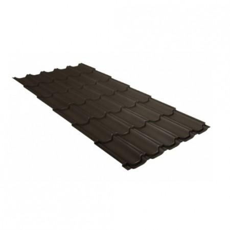 Металлочерепица Квинта плюс 0,45 Polyester RR 32 Темно-коричневый - фото