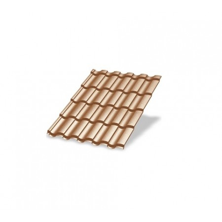Металлочерепица МП Монтекристо AGNETA 0,5 Copper Агнета - фото #1