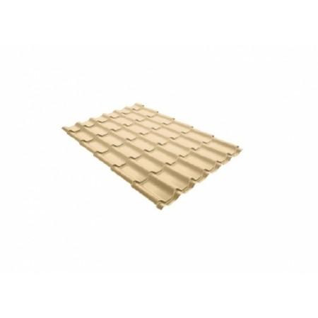 Металлочерепица Монтеррей 0,4 Polyester RAL 1014 Слоновая кость - фото