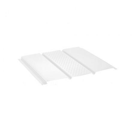 Софит алюминиевый с центральной перфорацией Polyester Белый RR20 - фото