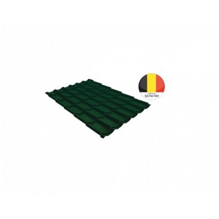 Металлочерепица Классик 0,5 Velur20 RAL 6005 Зеленый мох - фото